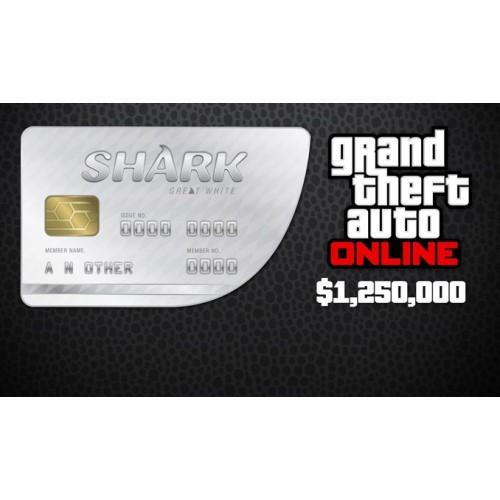 GTA 5 Online Great White Shark Cash Card 1,250,000