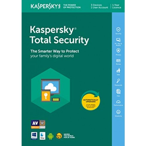 Kaspersky Total Security MD 2018 3 lic. 12 mes.