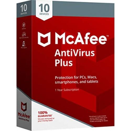McAfee AntiVirus Plus 1 lic. 12 mes.
