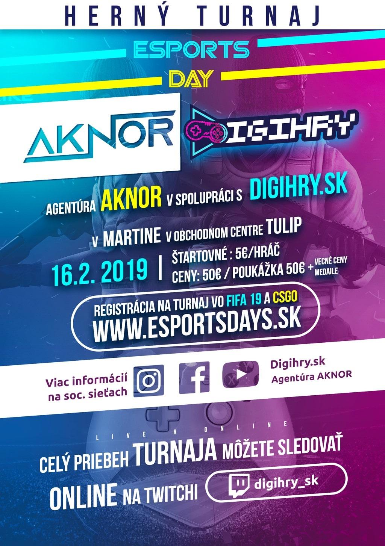 DIGIHRY.SK organizuje Herný turnaj v Martine -16 Február 2019