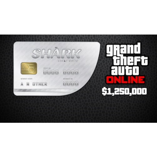 GTA 5 & Great White Shark Cash Card 1,250,000