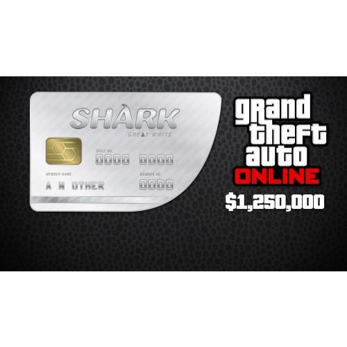 GTA 5 & Great White Shark Cash Card 1,250,000