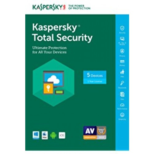 Kaspersky Total Security MD 2018 5 lic. 12 mes.