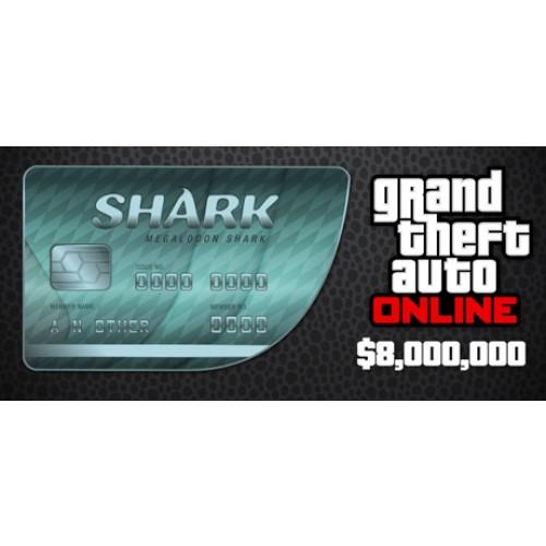 GTA 5 & Megalodon Shark Cash Card 8,000,000$