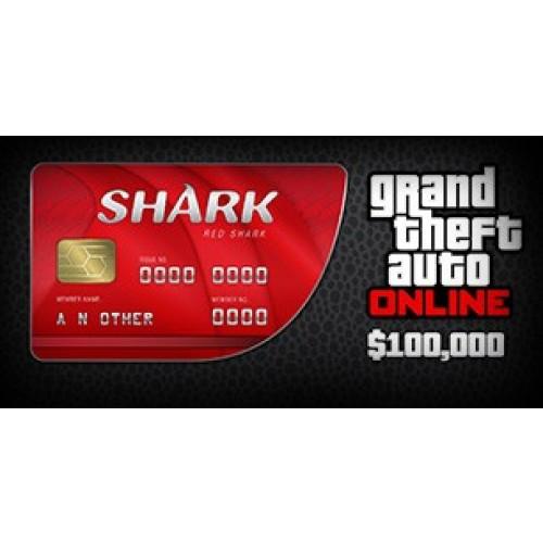 GTA 5 Online Red Shark Cash Card 100,000$